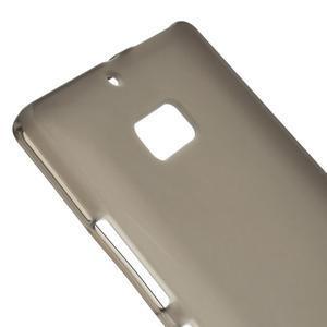 Matný gélový kryt pre Nokia Lumia 930 - sivý - 3