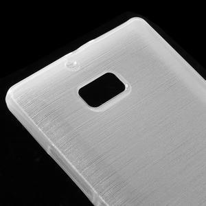 Gélový obal s brúseným vzorem Nokia Lumia 930 - biely - 3