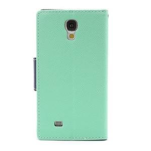 Fancy peňaženkové puzdro na Samsung Galaxy S4 -  azurové - 3