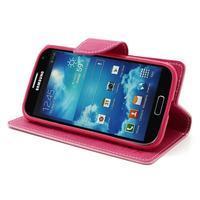Fancy peňaženkové puzdro na Samsung Galaxy S4 -  růžové - 3/7