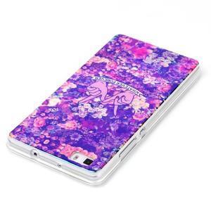 Blu-ray magic gelový obal na Huawei Ascend P8 Lite - květiny - 3
