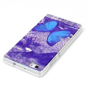Blu-ray magic gelový obal na Huawei Ascend P8 Lite - modrý motýl - 3