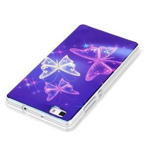 Blu-ray magic gélový obal na Huawei Ascend P8 Lite - kúzelní motýľe - 3