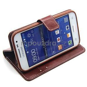 Hnedé puzdro pre Samgung Galaxy Core Prime - 3