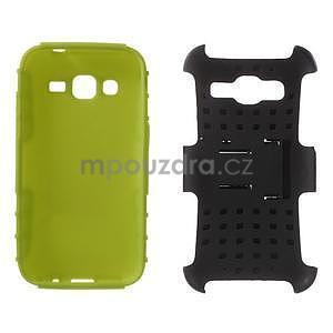 Extrémně odolný obal se stojánkem na Samsung Galaxy Core Prime - zelený - 3