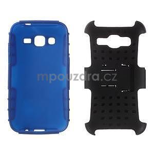 Extrémne odolný obal so stojanom pre Samsung Galaxy Core Prime - modrý - 3