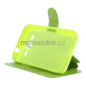 Zapínací peňaženkové puzdro pre Samsung Galaxy Core Prime - zelené - 3
