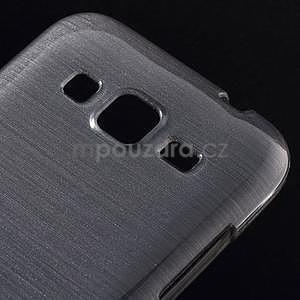Brúsený gélový kryt pre Samsung Galaxy Core Prime - šedý - 3