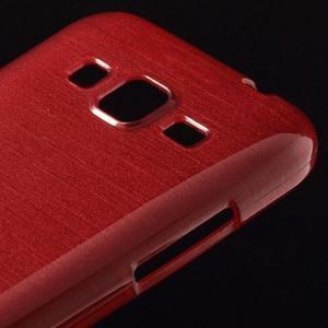 Brúsený gélový kryt pre Samsung Galaxy Core Prime - červený - 3