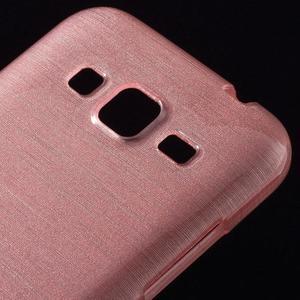 Brúsený gélový kryt pre Samsung Galaxy Core Prime - ružový - 3