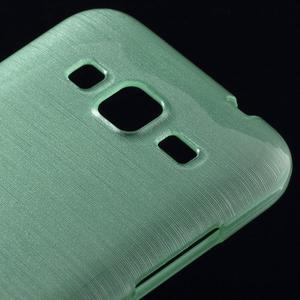 Broušený gelový kryt na Samsung Galaxy Core Prime - cyan - 3