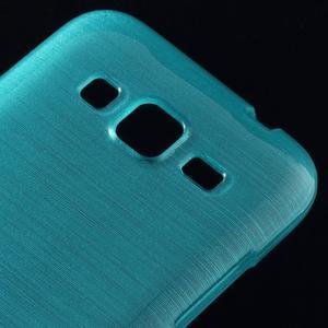 Brúsený gélový kryt pre Samsung Galaxy Core Prime - tyrkysový - 3