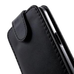 Černé flipové puzdro pre Samsung Galaxy Core Prime - 3