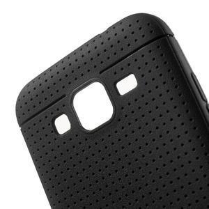 Čierny tečkovaný kryt pre Samsung Galaxy Core Prime - 3