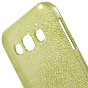Broušené gélový kryt pre Samsung Galaxy E5 - okrový - 3