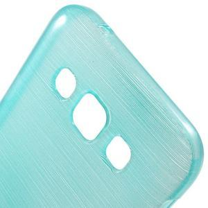 Broušené gélový kryt na Samsung Galaxy E5 - tyrkysový - 3