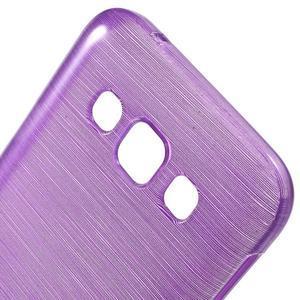 Broušené gélový kryt na Samsung Galaxy E5 - fialový - 3