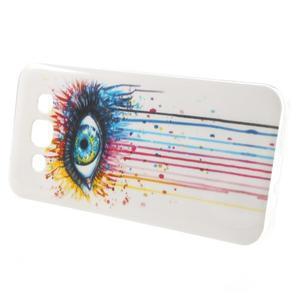 Gélový obal pre mobil Samsung Galaxy E5 - farebné oko - 3