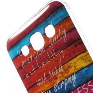 Gélový obal na mobil Samsung Galaxy E5 - farebné desky - 3