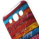 Gélový obal na mobil Samsung Galaxy E5 - farebné desky - 3/5