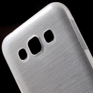 Broušené gélový kryt pre Samsung Galaxy E5 - biely - 3