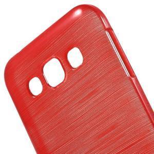 Broušené gélový kryt na Samsung Galaxy E5 - červený - 3