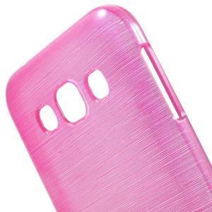 Broušené gélový kryt pre Samsung Galaxy E5 - rose - 3