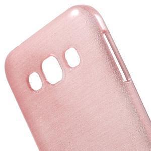 Broušené gélový kryt pre Samsung Galaxy E5 - ružový - 3