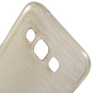 Broušené gélový kryt na Samsung Galaxy E5 - champagne - 3