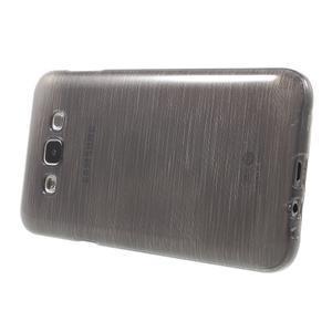 Broušený gélový obal pre Samsung Galaxy E7 - šedý - 3