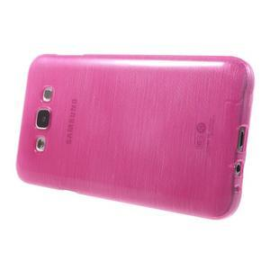 Broušený gélový obal pre Samsung Galaxy E7 - rose - 3