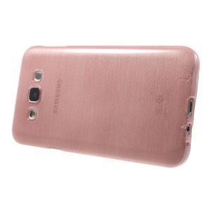 Brúsený gélový obal pre Samsung Galaxy E7 - ružový - 3