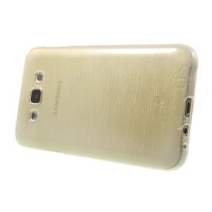 Broušený gélový obal pre Samsung Galaxy E7 - champagne - 3