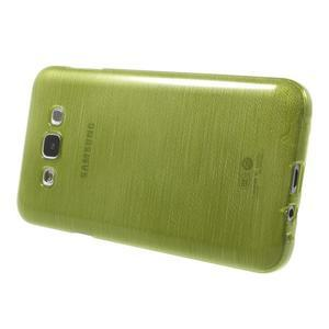 Broušený gélový obal pre Samsung Galaxy E7 - zelený - 3