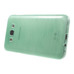 Brúsený gélový obal pre Samsung Galaxy E7 - cyan - 3