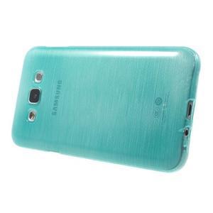 Broušený gélový obal pre Samsung Galaxy E7 - tyrkysový - 3