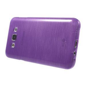 Brúsený gélový obal pre Samsung Galaxy E7 - fialový - 3