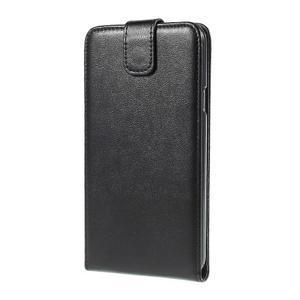Čierné flipové kožené puzdro pre Samsung Galaxy E7 - 3