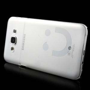 Plastový kryt na mobil Samsung Galaxy E7 - transparentný - 3