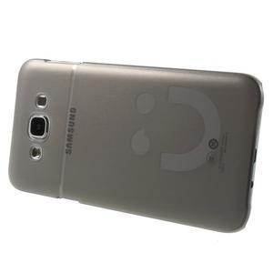 Plastový kryt pre mobil Samsung Galaxy E7 - šedý - 3