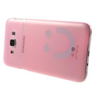 Plastový kryt pre mobil Samsung Galaxy E7 - ružový - 3