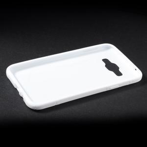 S-line gélový obal na Samsung Galaxy E7 - biely - 3
