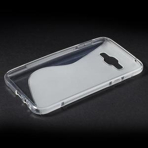 S-line gélový obal na Samsung Galaxy E7 - transparentný - 3