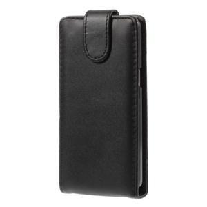 Čierné flipové puzdro pre Samsung Galaxy Grand Prime - 3