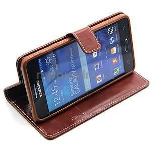 hnedé puzdro na Samsung Galaxy Grand Prime - 3