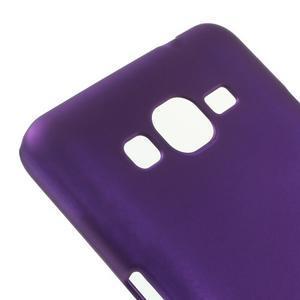 Pogumovaný kryt pre Samsung Galaxy Grand Prime - fialový - 3