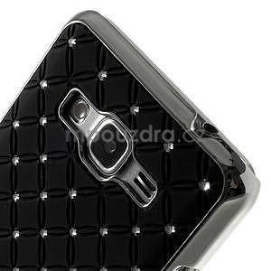 Čierny drahokamový kryt na Samsung Grand Prime - 3