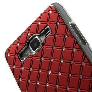 Červený drahokamový kryt pre Samsung Grand Prime - 3