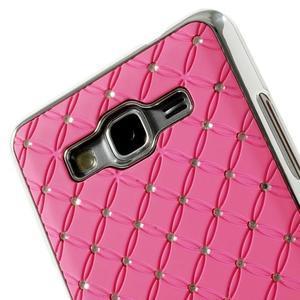 Ružový drahokamový kryt pre Samsung Grand Prime - 3