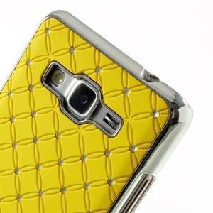 Žltý drahokamový kryt pre Samsung Grand Prime - 3